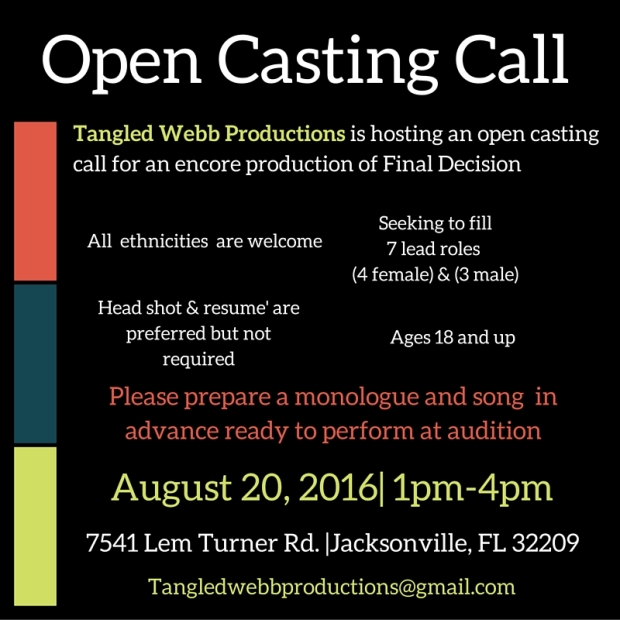 Open Casting Call w contact